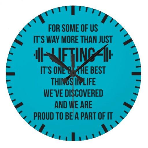 motivational fitness gym wallclock zazzle