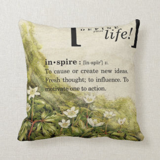 Motivational Floral Throw Pillow