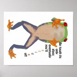 Motivational Frog Print
