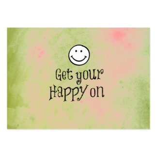 Motivational Get Your Happy On Quote Large Business Card