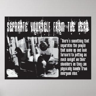 Motivational Gym Poster - Bench Press