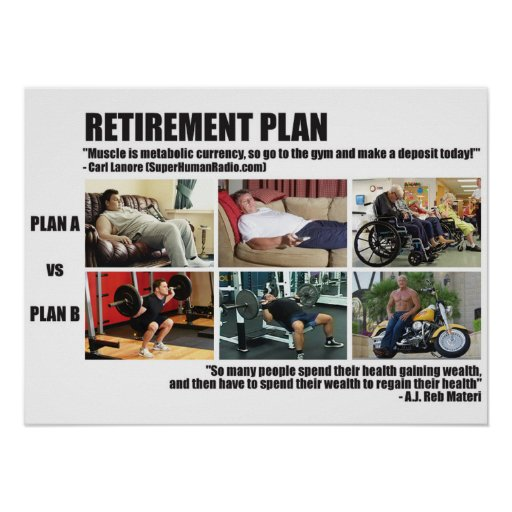 Motivational Gym Poster - Retirement Plan | Zazzle