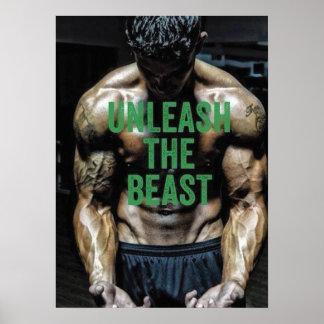Motivational Gym Poster - Unleash The Beast