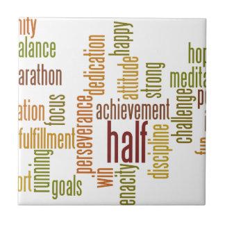 Motivational Half Marathon Word Cloud Tile