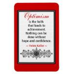 Motivational Helen Keller Quote Magnet :Optimism