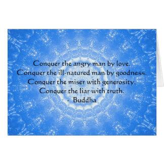 Motivational Inspirational Buddha Quote Card