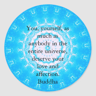 Motivational Inspirational Buddha Quote Classic Round Sticker