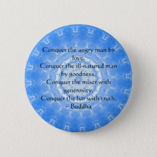 Motivational Inspirational Buddha Quote Pinback Button