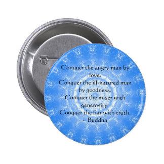 Motivational Inspirational Buddha Quote Pinback Button