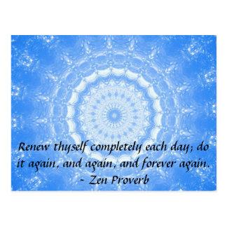 Motivational Inspirational Buddha Quote Postcard