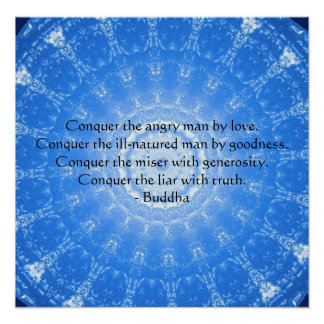 Motivational Inspirational Buddha Quote Poster