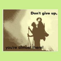 Motivational Inspirational Encouragement Hiking Postcard