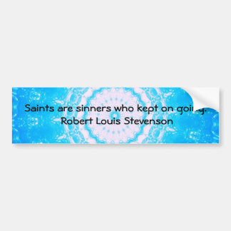 Motivational Inspirational Funny QUOTE Bumper Sticker