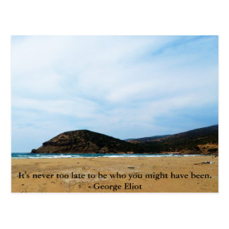 Motivational Inspirational Quote Postcard