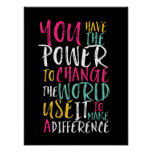 Motivational Inspirational Quote Typography Poster at Zazzle