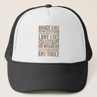 motivational inspirational trucker hat
