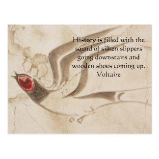 Motivational Inspirational Voltair QUOTE Postcard