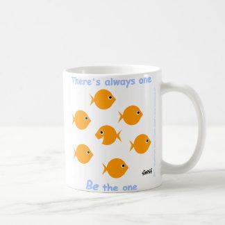 Motivational Inspiring Motto Cute Cartoon Goldfish Coffee Mug