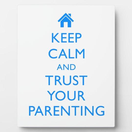 "Motivational ""Keep Calm"" Gifts Parenting Award Mom Plaque"