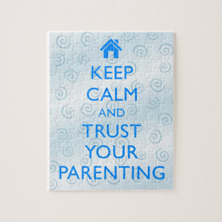 """Motivational """"Keep Calm"""" Gifts Parenting Puzzle Jigsaw Puzzle"""