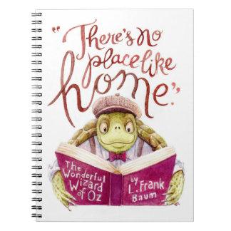 Motivational L. Frank Baum Quote Watercolor Turtle Notebook