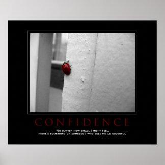 """Motivational Ladybug """"Confidence"""" Poster"""