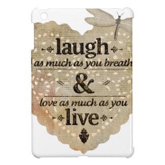 motivational laugh love iPad mini covers