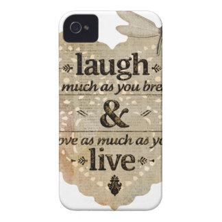 motivational laugh love iPhone 4 case