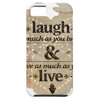 motivational laugh love iPhone SE/5/5s case