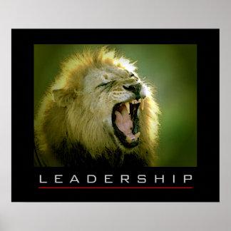 Motivational Leadership Courage Lion Poster Print