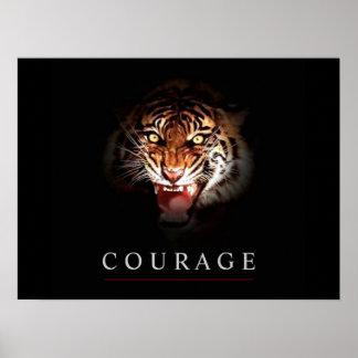 Motivational Leadership Courage Tiger Poster Print