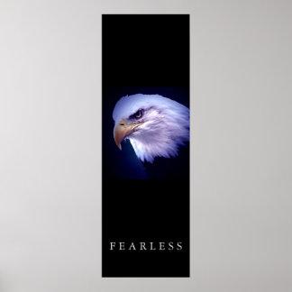 Motivational Leadership Fearless Eagle Eyes Poster