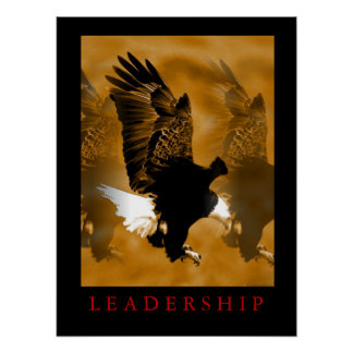 Motivational Leadership Landing Eagle Poster