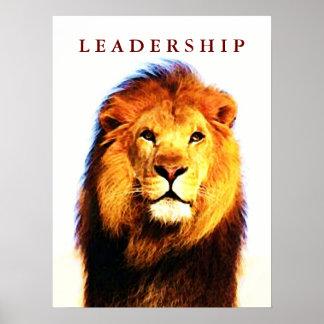 Motivational Leadership Lion Eyes Pop Art Poster