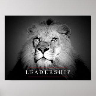 Motivational Leadership Lion Eyes Poster Print