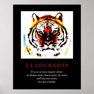 Motivational Leadership Pop Art Tiger Poster