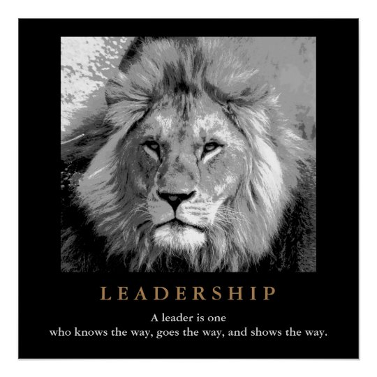 Motivational Leadership Quote Lion Pride Poster