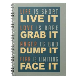 Motivational Life Advice notebook
