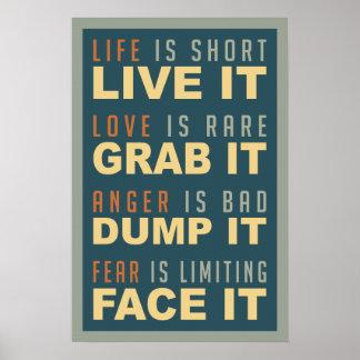 Motivational Life Advice poster