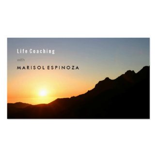 Motivational Life Coach Inspiration Mountain Climb Double-Sided Standard Business Cards (Pack Of 100)
