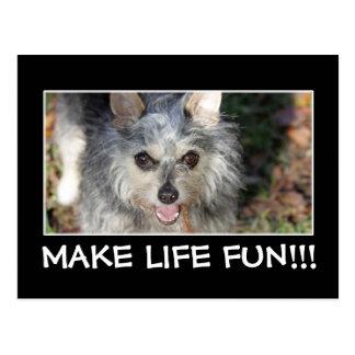 Motivational Live Life to the Fullest Inspiration Postcard