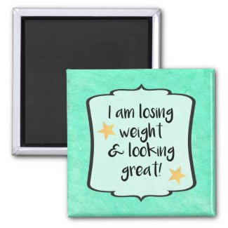 Motivational Losing Weight Slimming Club Quote Magnet