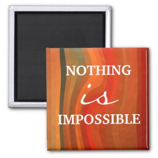 Motivational Magnet - 3 Word Quote Attitude magnet
