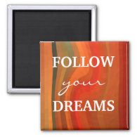 Motivational Magnet - 3 Word Quote Dream