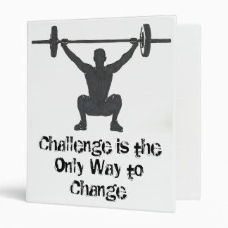 "Motivational Male Weightlifting Logo 1"" Binder"