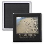 Motivational: Memories Last a Lifetime 2 Inch Square Magnet