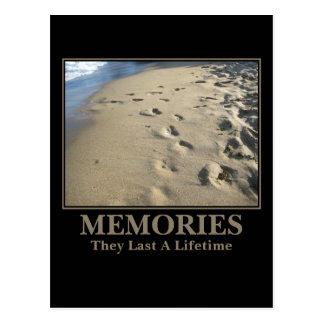 Motivational: Memories Last a Lifetime Postcard