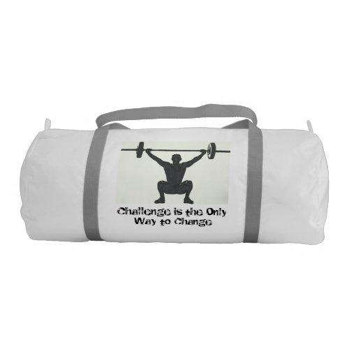 Motivational Men's Weightlifting Logo Gym Bag