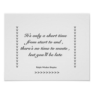 Motivational Message on time Poster