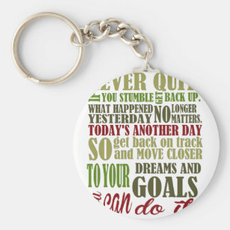 Motivational: Never Quit Keychain